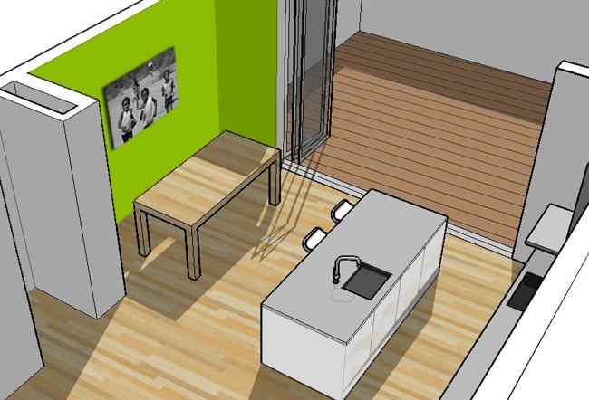 Plattegrond Kleine Keuken : Enige nadeel is dat het zelfbouw betonnen werkblad waar we aan dachten