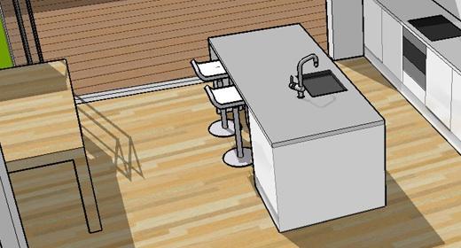 Indeling Keuken Voorbeelden : Enige nadeel is dat het zelfbouw betonnen werkblad waar we aan dachten